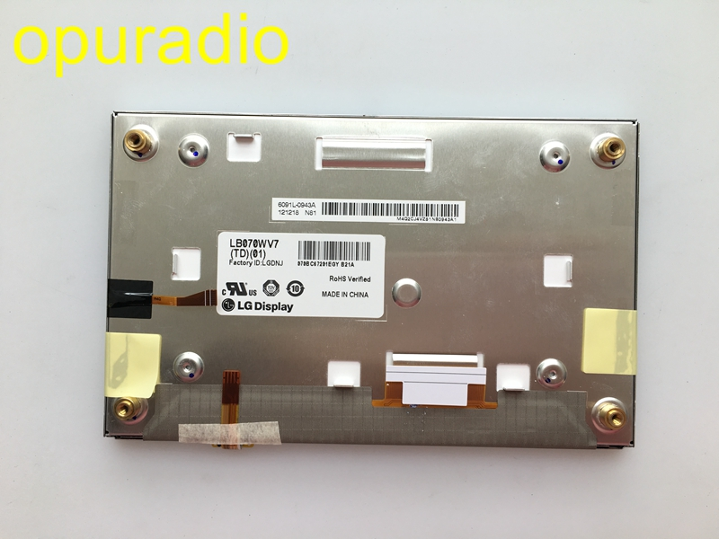 Original new L G 7inch LCD display LB070WV7 TD02 LB070WV7 TD01 with touch screen for Hyundai