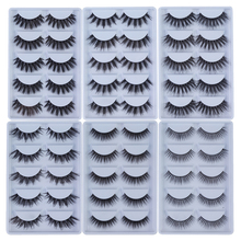 MB 2019 New 5 Pairs 3D 100% Mink Eyelashes Cruelty Free Eye lashes 5D Handmade Reusable Natural Popular False Lashes lot Makeup 5 pairs 100