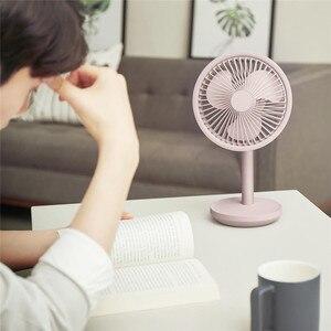 Image 3 - Настольный вентилятор SOLOVE с вибрационной головкой, 60 градусов, 4000 мАч, USB, перезаряжаемый, 3 режима, скорость ветра, охлаждение, Осциллирующий вентилятор, черный/розовый