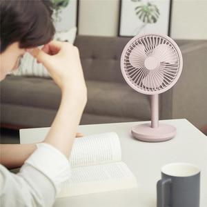 Image 3 - SOLOVE Desktop Fan 60 Degree Shaking Head 4000mAh USB Rechargeable 3 Modes Wind Speed Cooling Oscillating Fan Black/Pink