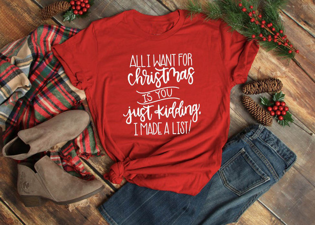 1Tee Womens All I want for Christmas is a Cookie T-Shirt