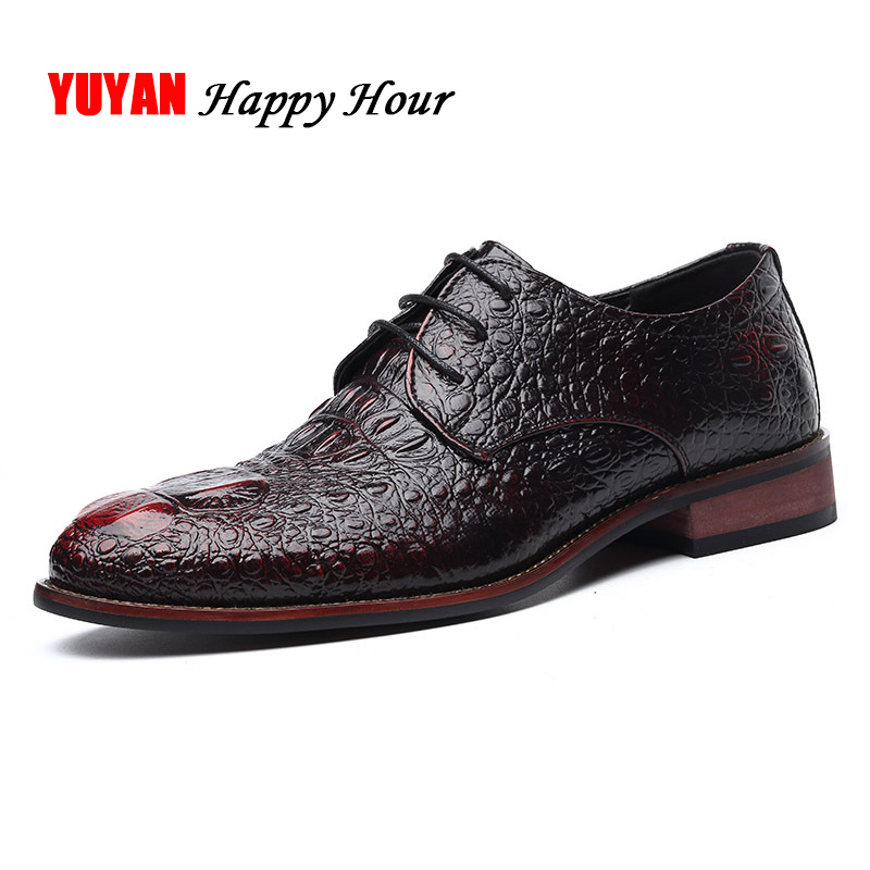 Brand Business Shoes Man Casual Shoes Fashion Oxfords High Quality Brand Mens Leather Shoes Black Brogues A424
