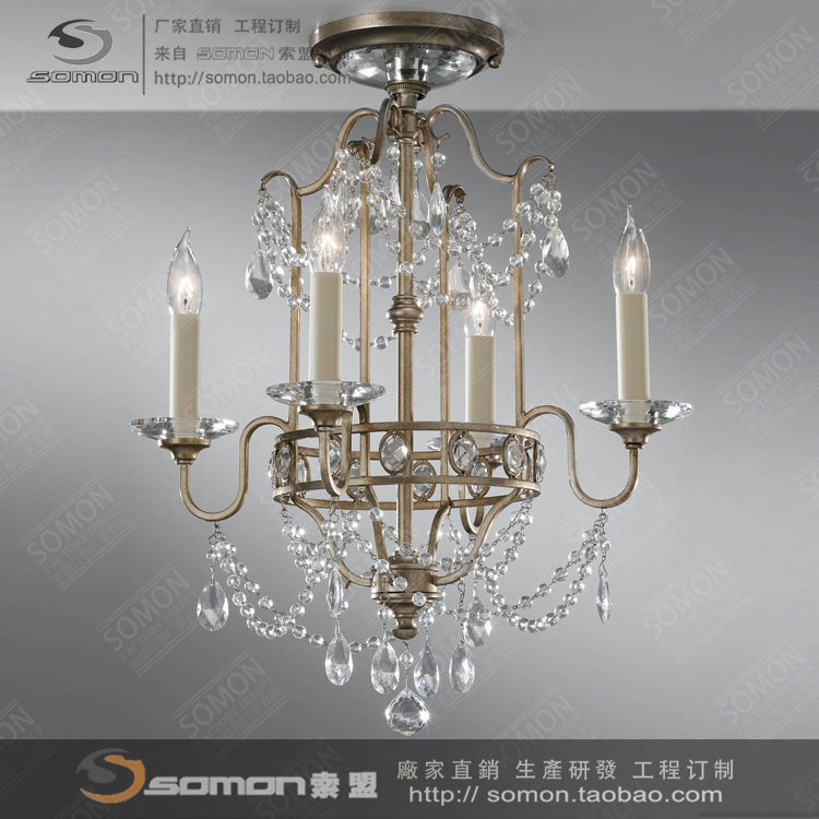 American Crystal Light a candle chandeliers European French ...