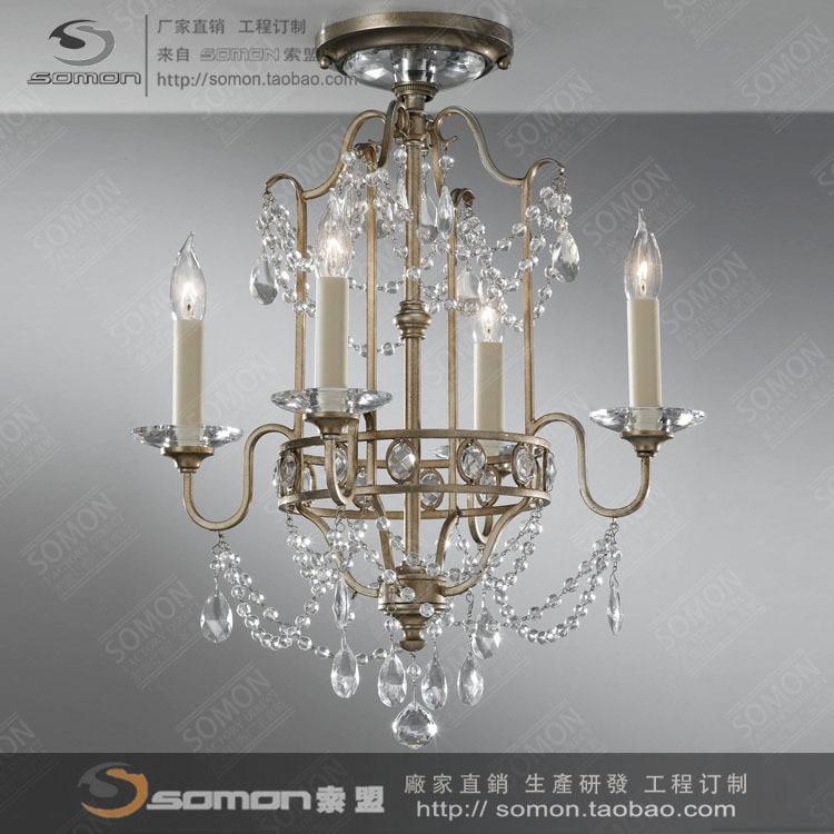 Americano di cristallo accendere una candela lampadari - Lampade e lampadari ikea ...