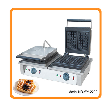 Free shipping 220v or 110v available Commercial Waffle Iron Electric Waffle Baker Cast Iron Plate Price