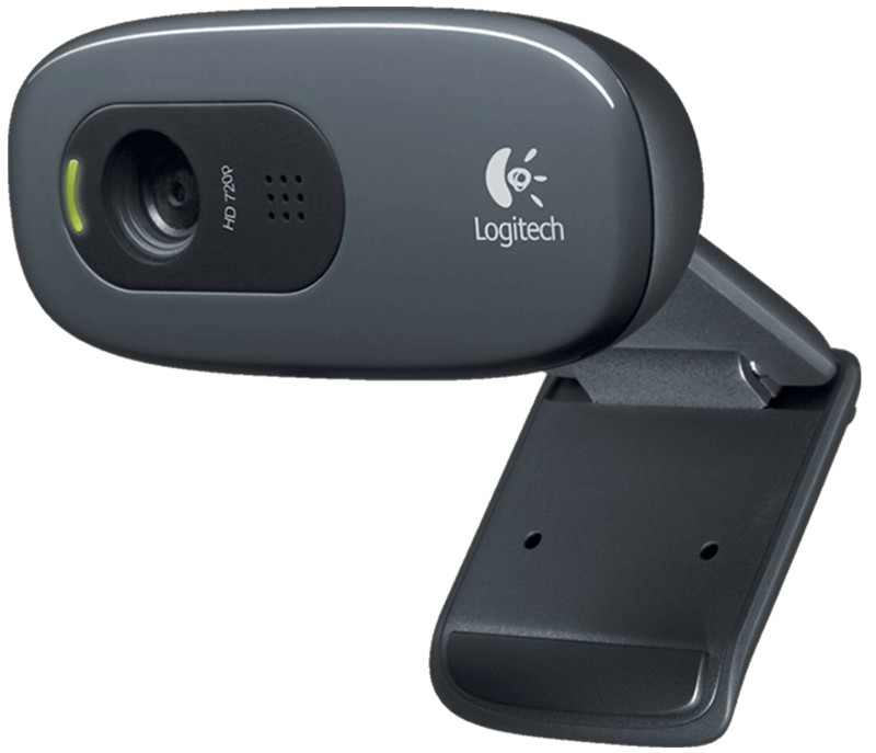 Logitech C270 HD Vid 720P Webcam with Micphone USB 2.0 Support Official Test for PC Lapto Video Calling logitech c270 720p 3 mp widescreen hd webcam with video calling and recording