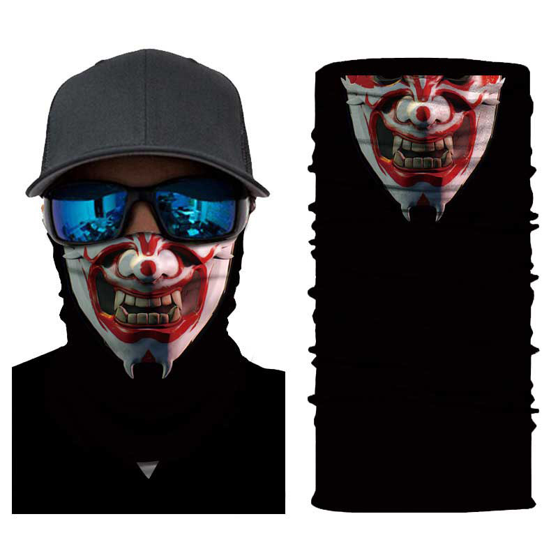 Joker Headband Balaclavas Halloween Mask Ghost Face Shield Motor Foulard Moto Summer Neck Scarf Herobike Motorcycle Ma