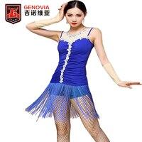 Performance Latin Skirt Tassel Dress Rumba Samba Belly Dance Dress M/L MIA GENOVIAG Dress