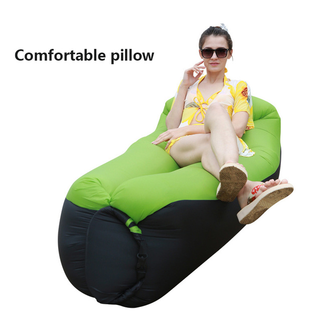 Inflatable Lounger Air Sofa Portable Waterproof Couch for backyard Lakeside Beach Traveling Camping Picnics Music Festivals 4