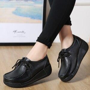 Image 5 - JZZDDOWN אמיתי עור נעלי אישה פלטפורמת תחרה עד נשים סניקרס פלטפורמה מקרית נעלי יוקרה נעלי נשים נשיות