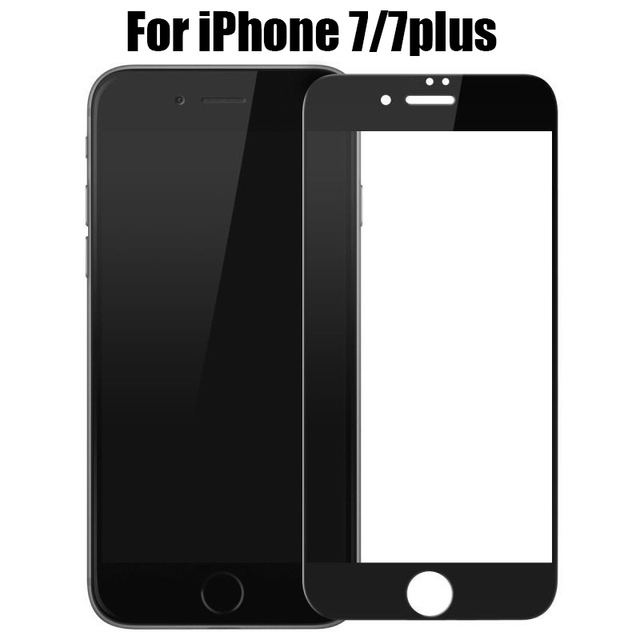 newest 263c6 1c691 US $3.75 |For iPhone 7 7 Plus matte Screen Protector Tempered Glass Film  Ultra Thin Full Front Screen Protective Case Cover For iPhone7-in Phone ...