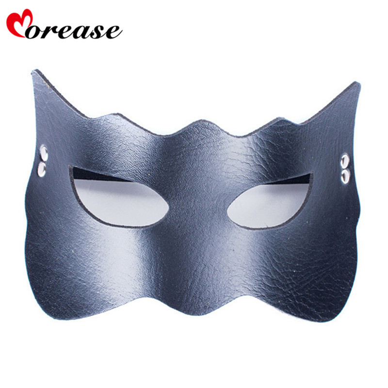 Buy Morease Sexy Eye Mask Blindfold Bondage PU Leather Fetish Slave Erotic Cosplay Adult Game Sex Toys Bdsm Product Women