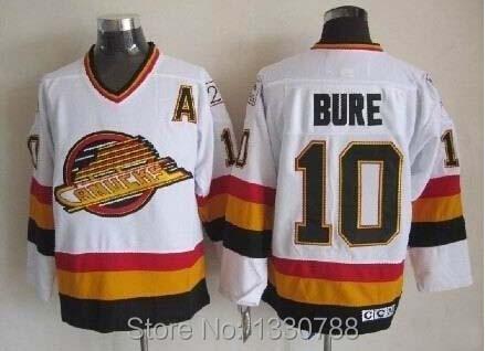 b1b83f570f8 Cheap Mens Vancouver Canucks #10 Pavel Bure Jersey White Stitched Throwback  Vintage Hockey Jerseys Shirts 2015