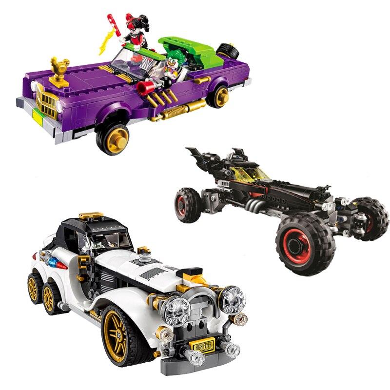 Compatible avec batman Movie 3Set 1297 pièces Lowrider pingouin classique de Joker's voiture blocs de construction briques jouets