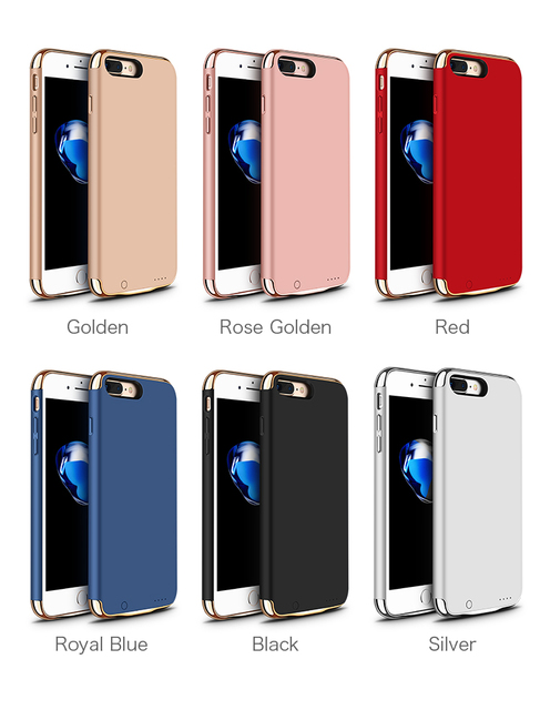pretty nice c58fa 27723 US $20.39 25% OFF|Battery Charger Case For iPhone 8 Plus 3500mAh Portable  Power Bank External Pack Backup Case for iPhone 7 Plus 5.5 inch -in Battery  ...