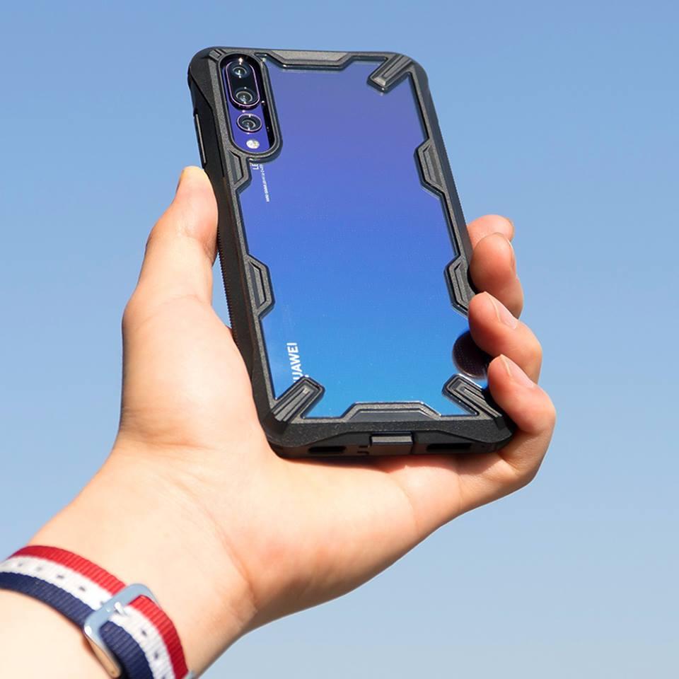 Ringke Fusion X für Huawei P20/Pro Fall Dual Layer Heavy Duty tropfen Schutz PC Klar Rückseite und Weichen TPU Rahmen Hybrid