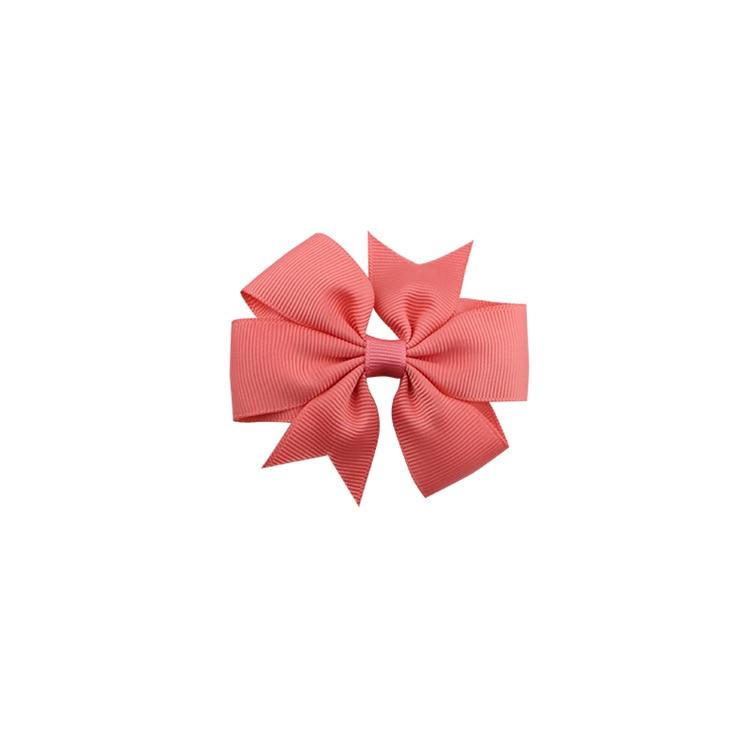 40 цветов сплошная корсажная лента банты заколки шпилька девушка бант для волос, бутик заколки для волос аксессуары для волос - Color: a16 Waterlemon Red