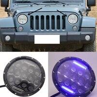 2PCS For JEEP Wrangler 2007 2016 13 LED 7'' inch White H/L Beam + DRL Blue jeep wrangler jeep wrangler wranglerjeep jeep -