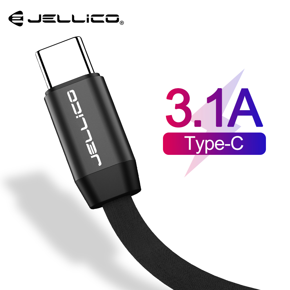 Jellico USB Type C Cable For Samsung S10 S9 Huawei P30 Pro Fast Charge Type-C Mobile Phone Charging Wire USB C Cable for Xiaomi(China)