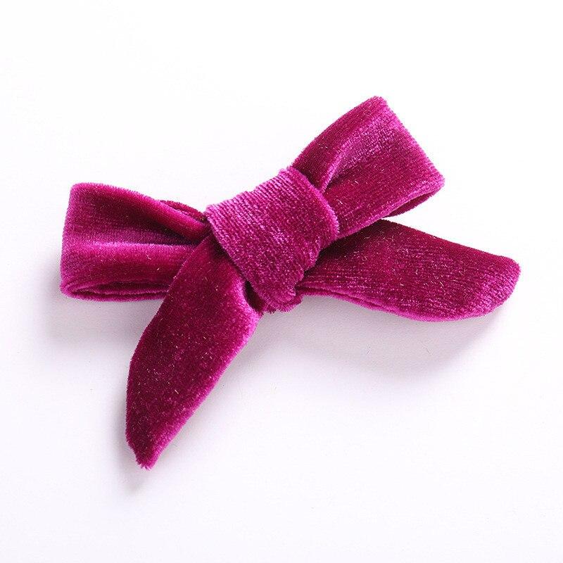 Детская заколка для волос высокого качества для девочек, популярная детская заколка для волос, 1 шт., корейский бант, аксессуары для волос, бархатная заколка - Цвет: 4
