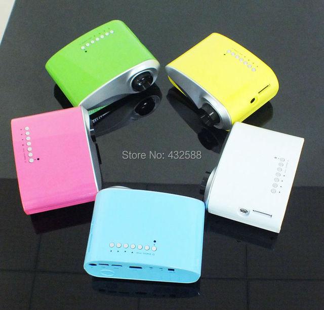 Más nuevo 200 lúmenes LED Zoom eléctrico portátil vídeo Pico Micro pequeño Mini proyector HDMI VGA AV USB TV Tuner envío gratis