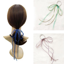 Girl Hair Bow-knot Ribbon Scrunchy Elegant Hair Accessories For Women For Hair Elastic Bands New Arrival Headwear Hairband