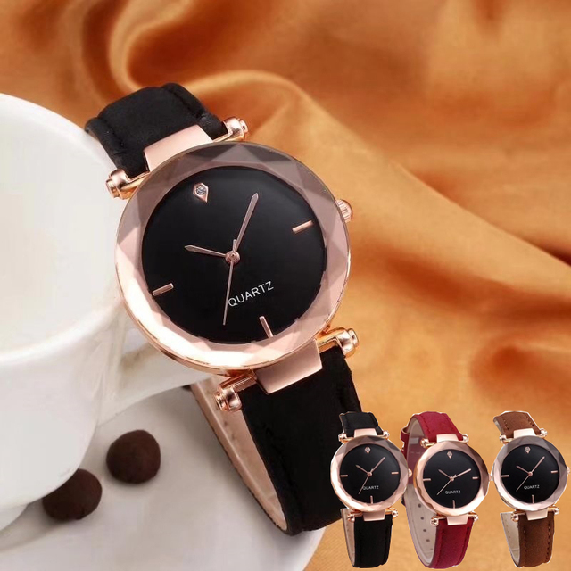 clever Fashion luxury geneva Strap Women Rhinestone Wrist bracelet Watches Casua
