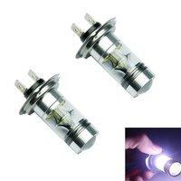 2Pcs H7 Led Bulb High Power Seoul Chipset 100W For Fog Lights Or Daytime Running Lights