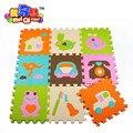 9 pçs/lote ambiental esteiras puzzle de espuma EVA padrão geométrico jogar bebê esteiras de espuma não-slip mat crianças jigsaw esteira do jogo