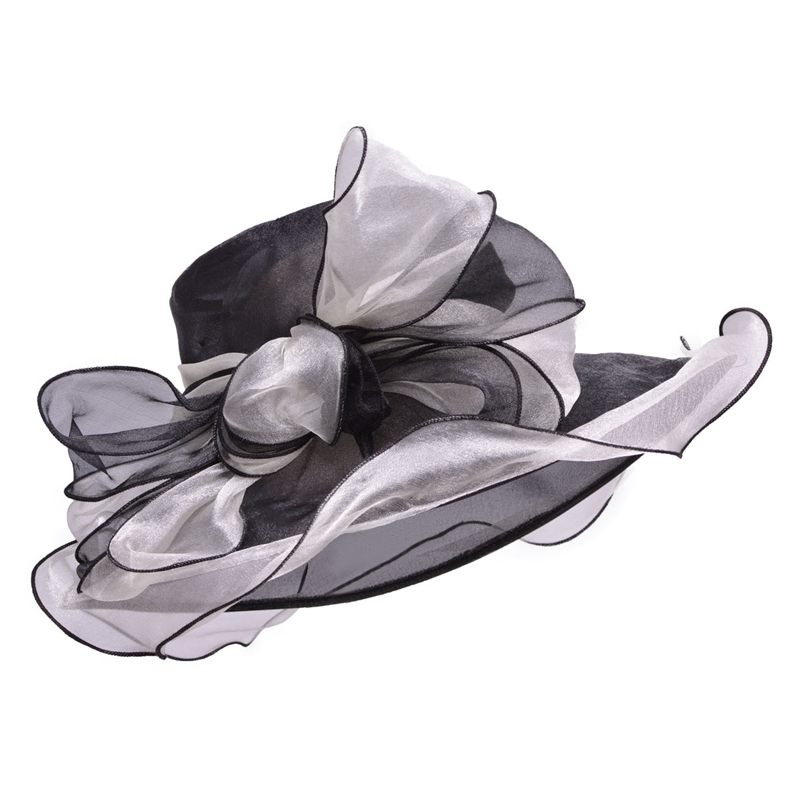 black sun hats for women formal organza big bow kentucky