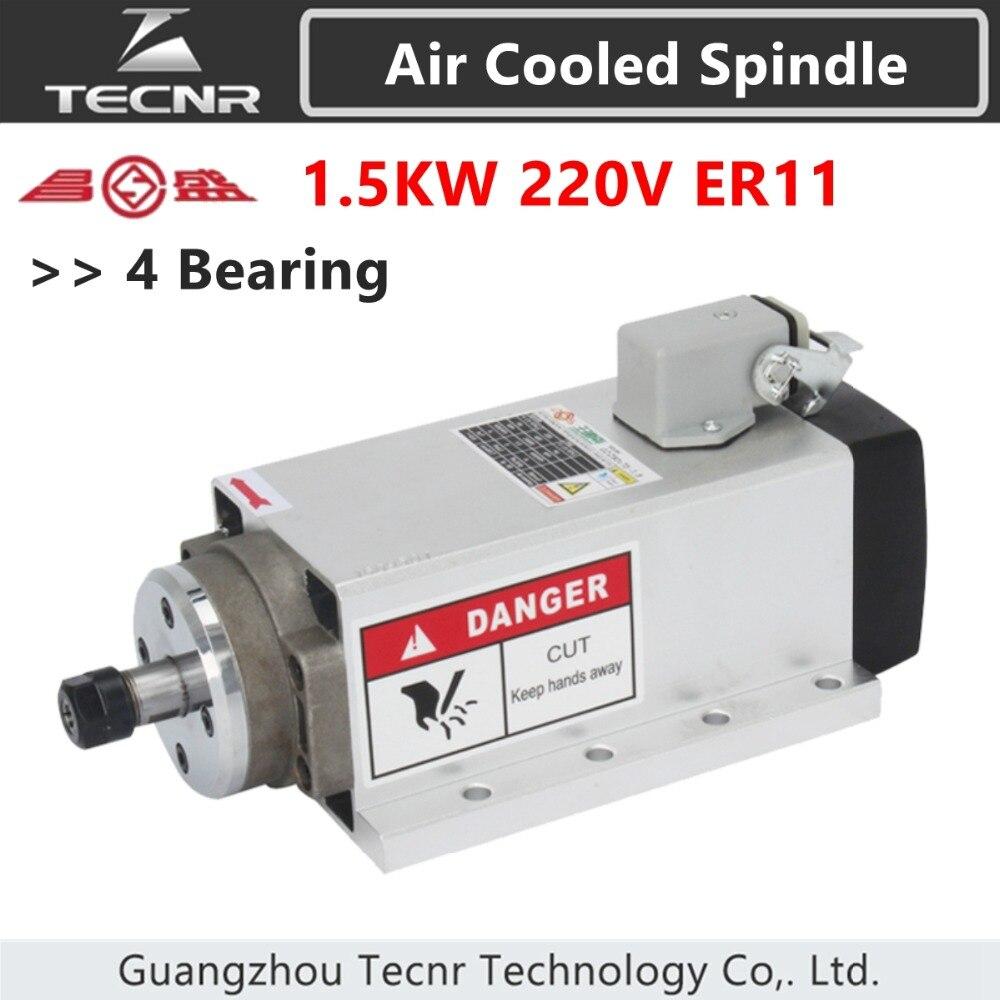 Двигатель шпинделя с воздушным охлаждением 220 кВт, в, фланцевый монтажный двигатель ER11 для гравировального станка с ЧПУ