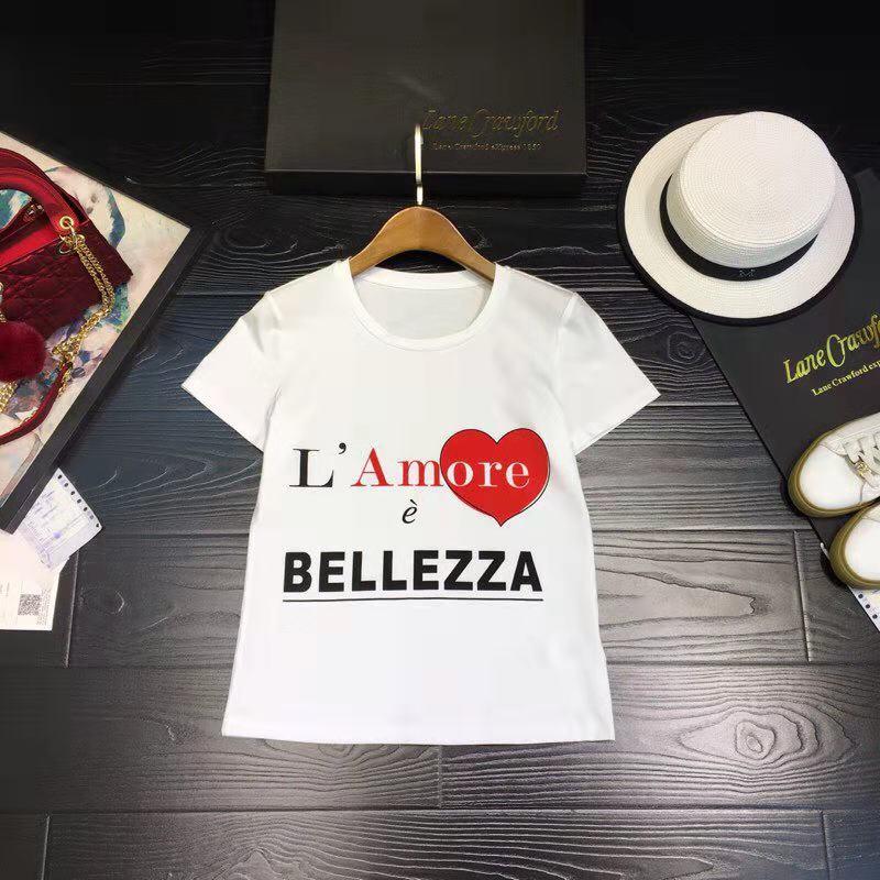 Célèbre Européenne Mode Piste Partie 2019 amp; De D02230 Style Pour Luxe Marque shirts Femmes Vêtements T Haut Design Femme fnAwx7Cqvf