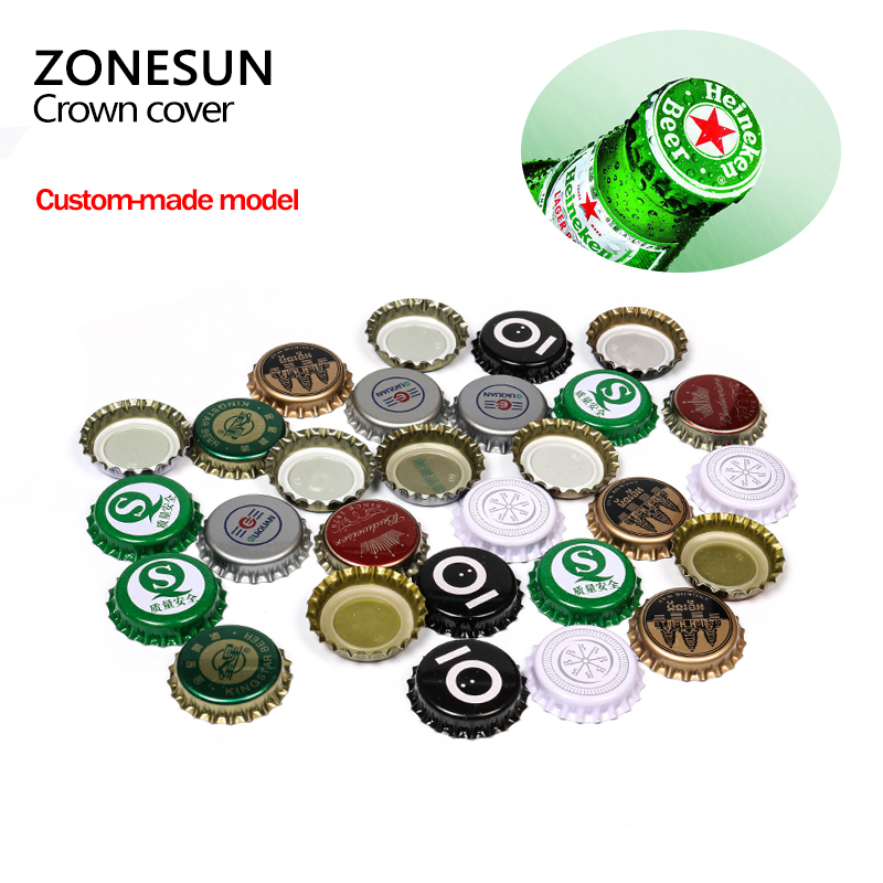ZONESUN 100pcs/lot Assorted Colors Beer bottle cap beer lid for DIY homebrew beer tool Gold/ Black/ Silver Free shipping