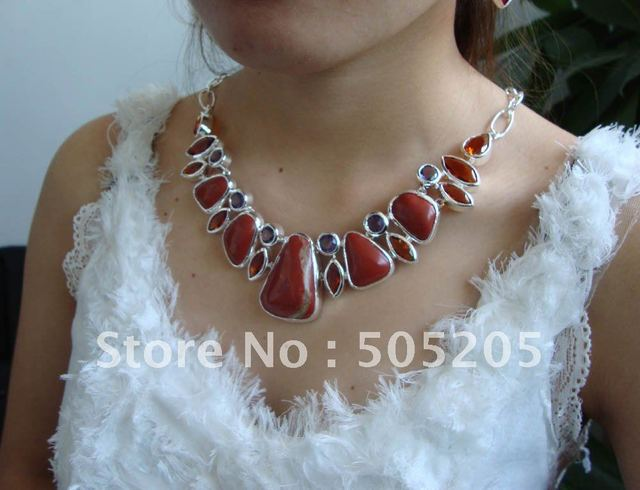 Free shipping, Hot sales, fashion silver 925 Topaz jewelry necklace in size 20inch LN1202