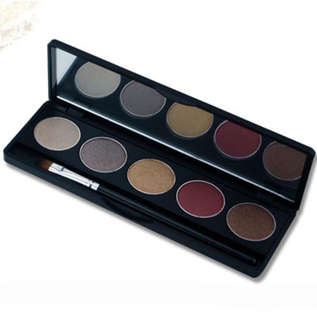 5 Caixa de Cor Sombra de Olho Com Escova Requintado Cosméticos de Longa Duração Natural Sombra de Olho Maquiagem Beleza Frete Grátis