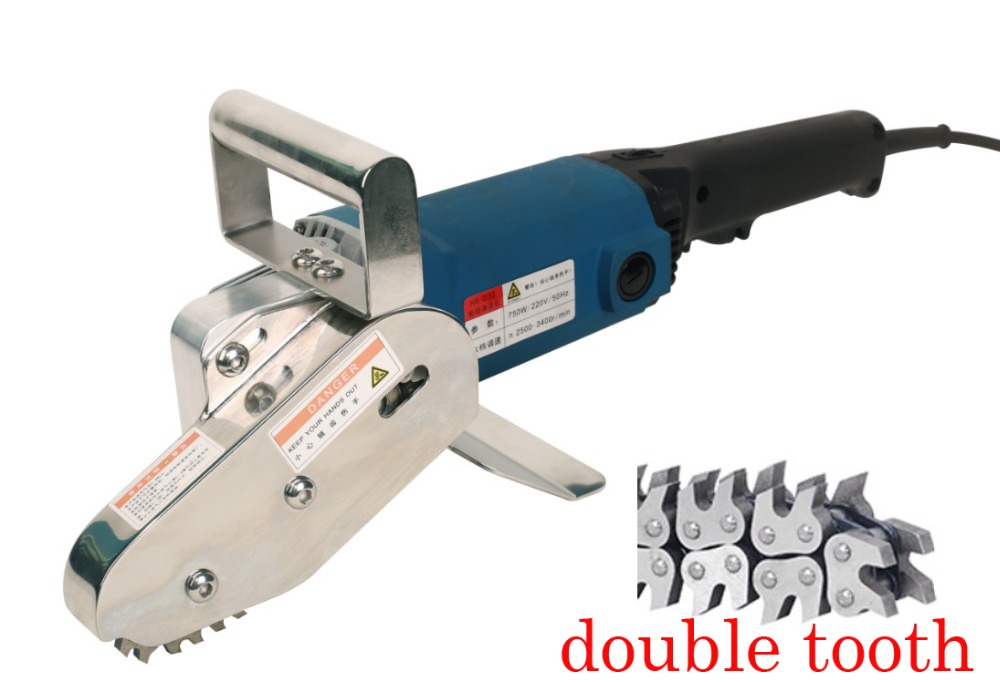 1400W Double Claw Electric Carton Box Waste Stripper Stripping Machine Waste Discharge Corrugated Cardboard Trimming tool