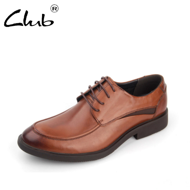 Club Brand Men Dress Shoes Genuine Leather Oxford Shoe Men Lace-Up Casual Business Shoes Leather Formal Shoes Zapatillas Hombres 2017 italy new brand designer golden genuine leather casual men shoes goose all sport star breathe shoes footwear zapatillas