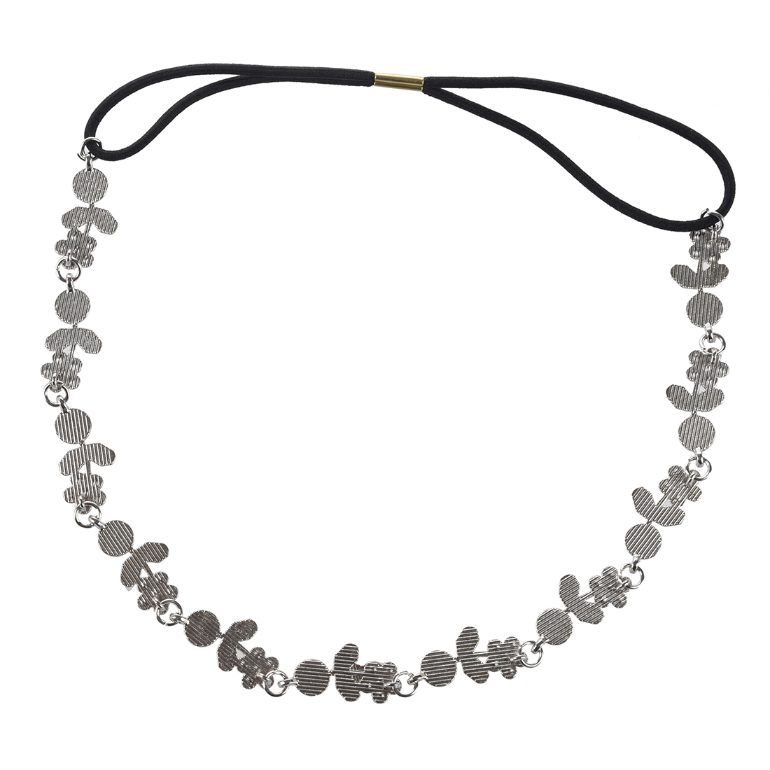 Xiao Yu's Store TFGS-Hair Headband Elegant Elastic Headband with Rhinestones Flowers for Women - Silver