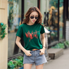 Plus Size 3XL Summer T Shirt Women New Arrivals Fashion Letter Printed T-shirt Woman Tee Tops Casual Loose Female T-shirts C299