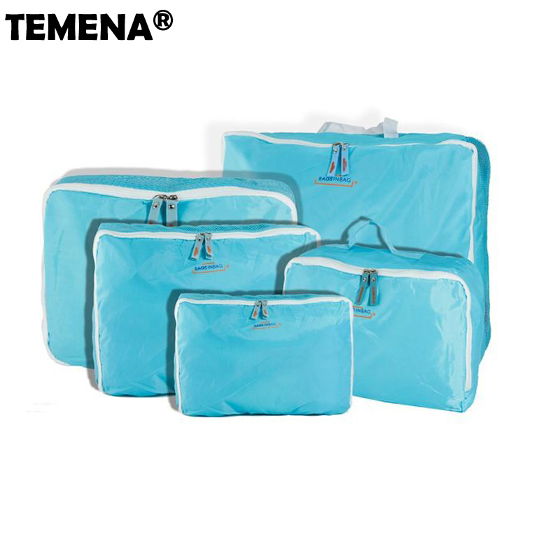 5 Sizes/set Home Travel Totes Clothes Underwear Socks Travel Bags Packing Cube Luggage Bag Organizer For You 5pcs