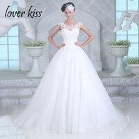 Lover Kiss robe de princesse 2018 Luxury Beaded Bridal Gowns Sheer Back European Beaded Spring Church Wedding Dresses For Brides