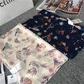 birds printed female scarf Japanese style new cotton winter spring scarf shawl fashionable 100 * 180cm
