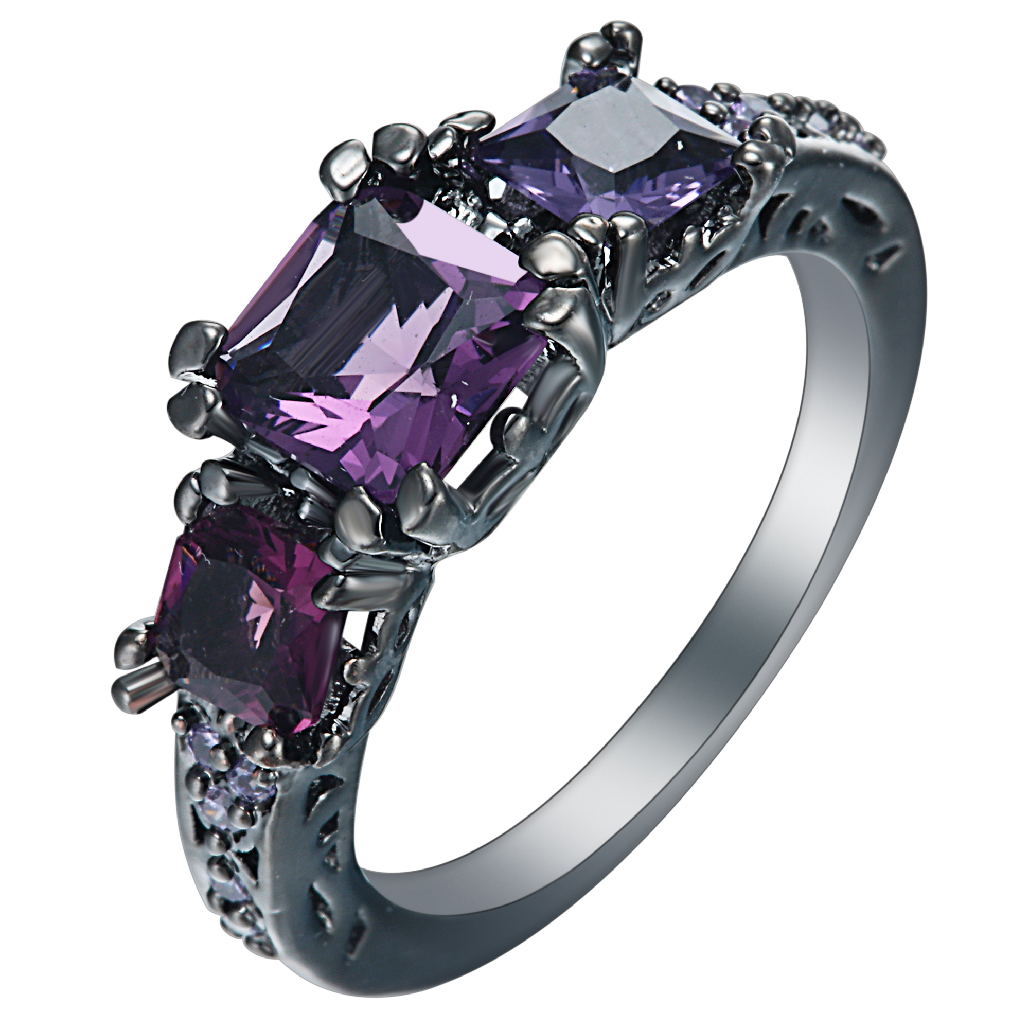 high quality purple engagement rings-buy cheap purple engagement