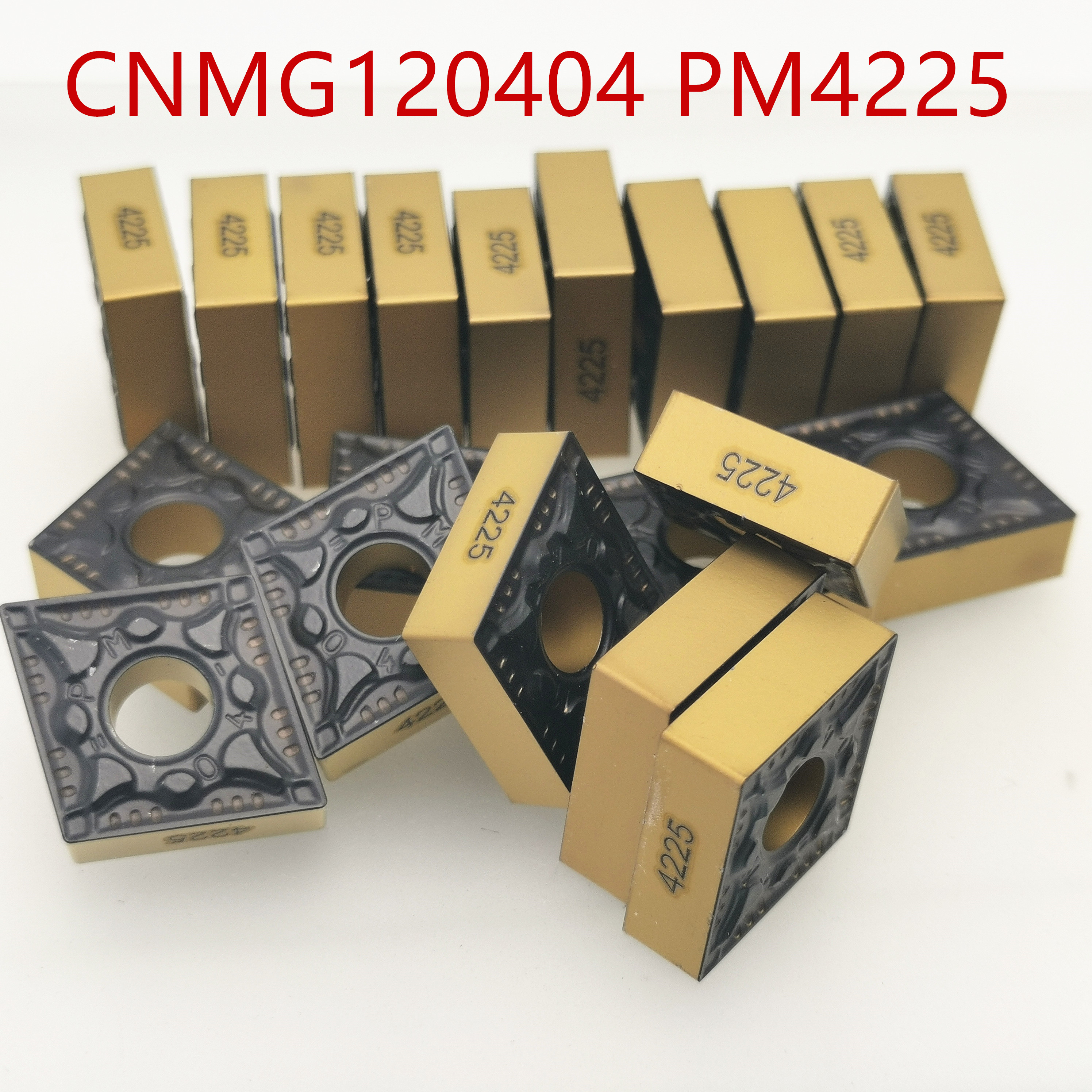 Hard Alloy <font><b>CNMG120404</b></font> PM 4225 External Turning Tools Carbide insert Lathe Tool CNMG 120404 PVD turning insert tungsten carbide image