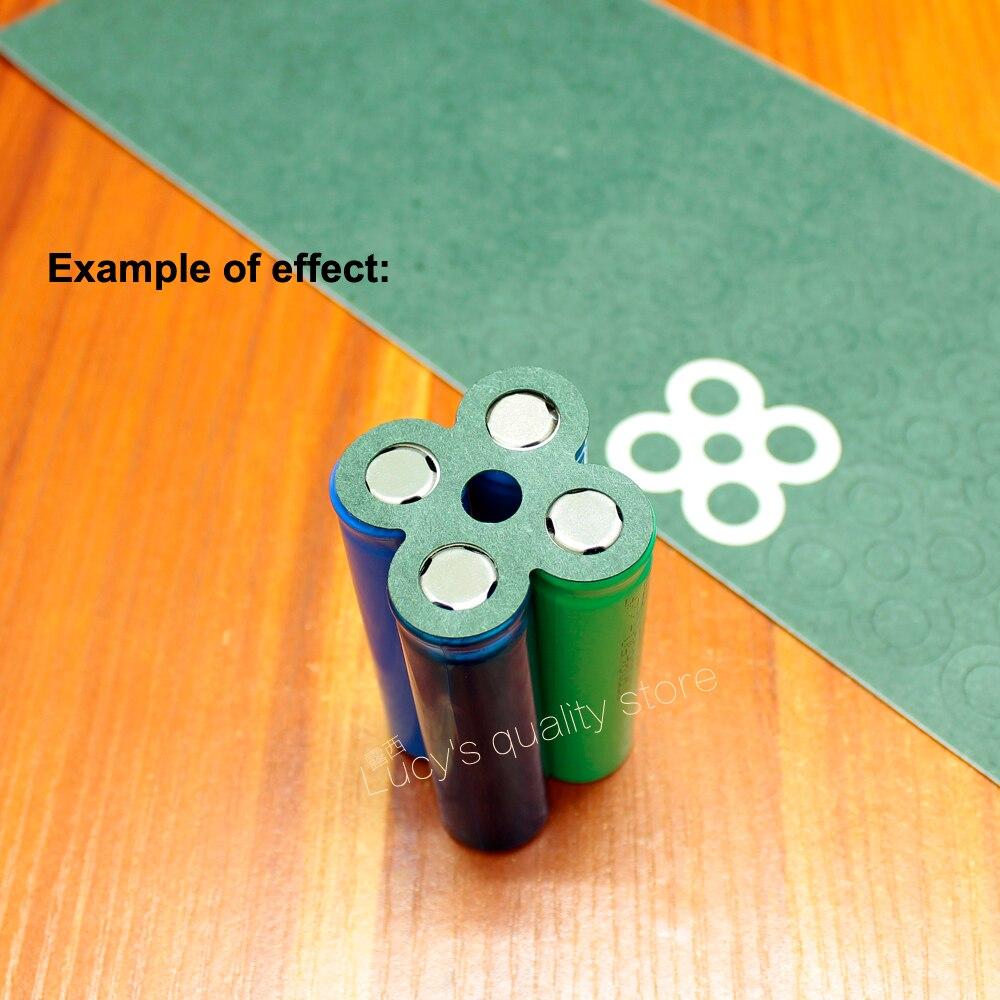 Купить с кэшбэком 100pcs/lot 18650 lithium battery universal high temperature insulation gasket 4 battery pack accessories DIY insulation gasket