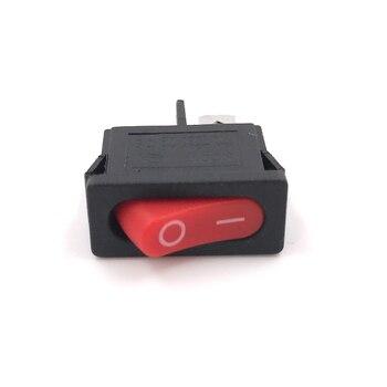 Mini interruptor Rocker para coche de 12V, 10 Uds., interruptor de alimentación para bote, 2 pines, Negro, Rojo, pequeño interruptor de encendido
