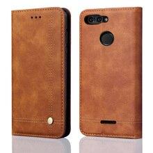 Роскошные Флип кожаный чехол для Xiaomi redmi 6 кошелек Чехол Стиль карт памяти Stand-чехол для Xiaomi redmi 6 чехлы для телефонов 5,45″