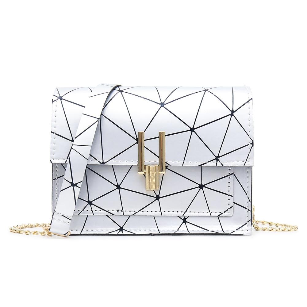 Geometric Print Shoulder Bags For Women 2019 Fashion New PU Leather Messenger Satchel Bag Girls Bolsas Feminina Mujer Sac A Main