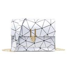 Geometric Print Shoulder Bags for Women 2019 Fashion New PU Leather Messenger Satchel Bag Girls Bolsas Feminina Mujer Sac A Main серьги коюз топаз серьги т748027861