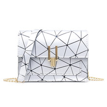 Geometric Print Shoulder Bags for Women 2019 Fashion New PU Leather Messenger Satchel Bag Girls Bolsas Feminina Mujer Sac A Main(China)